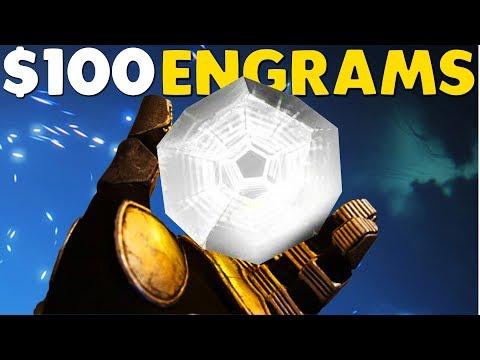 $100 DESTINY 2 ENGRAM OPENING   Destiny 2