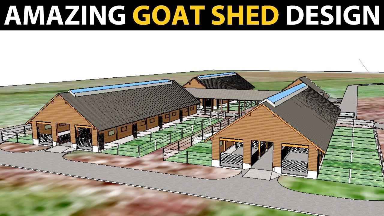 GOAT SHED DESIGN   Goat Farm Plans & Designs   Goat Housing ideas