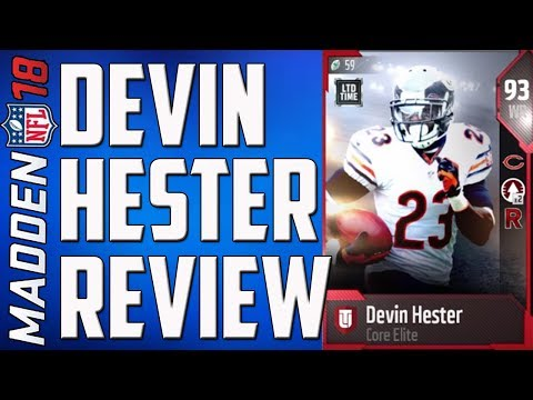 How Good is 95 Speed Devin Hester? MUT 18 Card Review