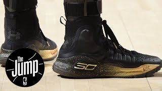 Steph Curry responds to Kevin Durant's dig at Under Armour | The Jump | ESPN