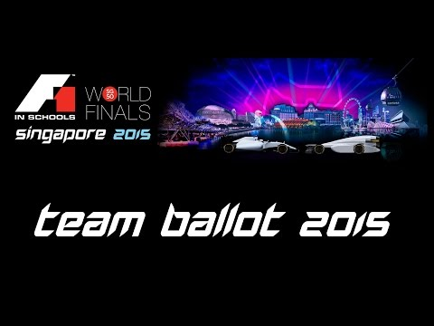 F1 in Schools World Finals 2015 Team Number Ballot