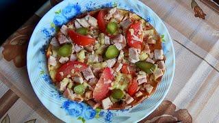 Рецепт. Диетическая пицца по диете Дюкана
