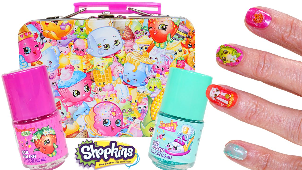 Shopkins coloring pages nail polish - Shopkins Nail Kit Shopkins Glitter Nail Polish Dctc Videos Youtube