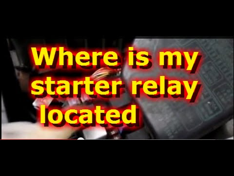 Where is the starter relay located on A Hyundai Accent - YouTube