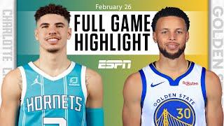 Steph Curry battles LaMelo Ball in Warriors vs. Hornets {HIGHLIGHTS} | NBA on ESPN