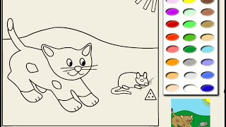 Cat Coloring Pages Girls