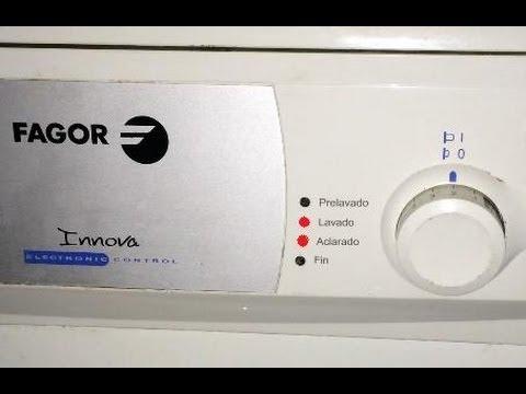 Fallo lavadora fagor innova parpadean luces lavado y for Lavavajillas fagor innovation error f6