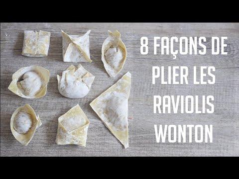 8-faÇons-stylÉes-de-plier-les-raviolis-wontons-🥟🥟(farce-porc&-crevettes)