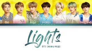 Gambar cover BTS - Lights (방탄소년단 - Lights) [Color Coded Lyrics/Kan/Rom/Eng/日本語字幕/가사] (한국어 자막)