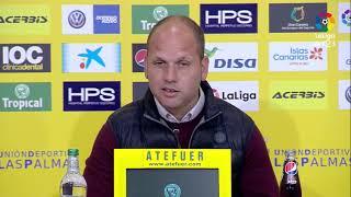 Rueda de prensa de José Alberto López tras el UD Las Palmas vs Real Sporting (1-0)