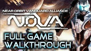 N.O.V.A. - Near Orbit Vanguard Alliance - Full Walkthrough | No commentary (PSP)
