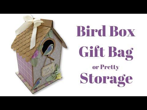 DIY Bird Box Gift Bag or Storage Box