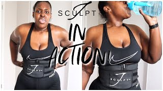 WORKING OUT WITH MY JSCUPLT FITNESS BELT! WATCH ME SWEAT WITH HASFIT!
