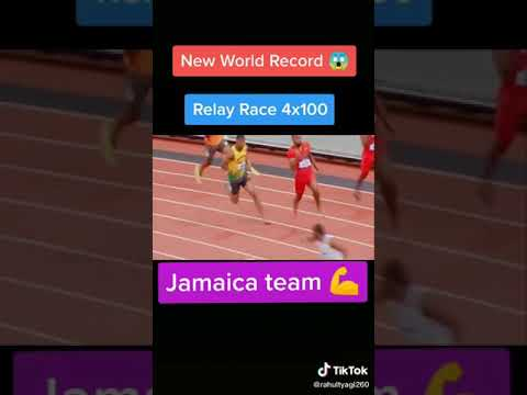 what a race😯new record😯jamaica team😦relay race 4x100🤗powerful mens