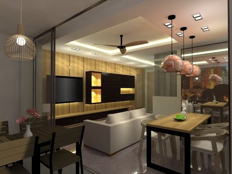 Sketchup + Vray 3D living room Interior Design Speed up video