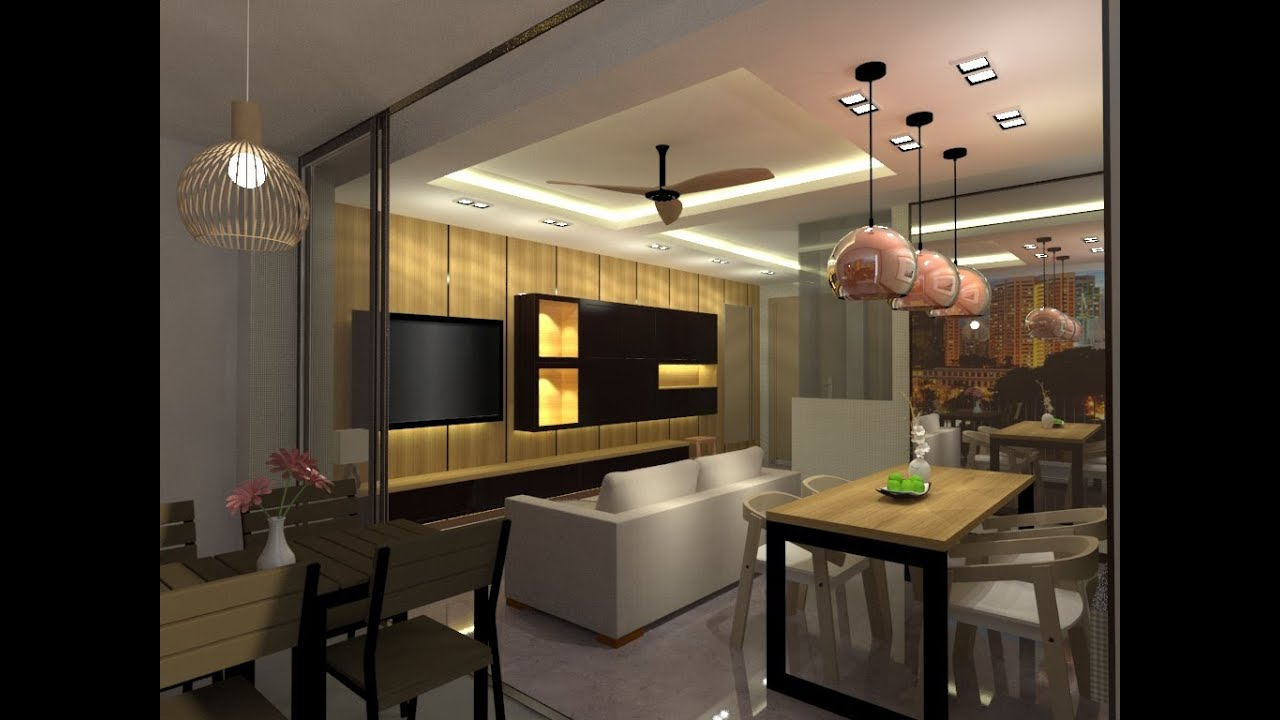 Sketchup vray d living room interior design speed up