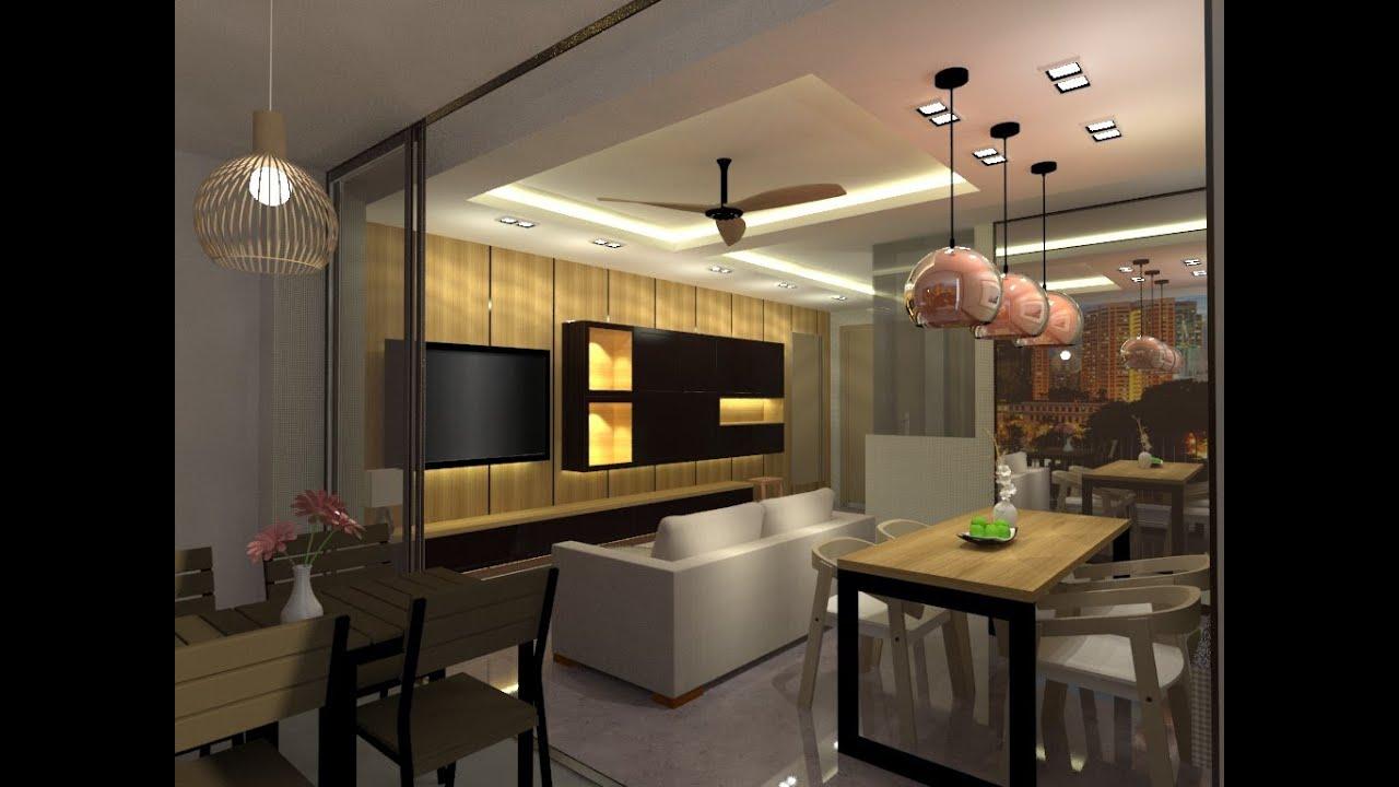 Sketchup  Vray 3D living room Interior Design Speed up