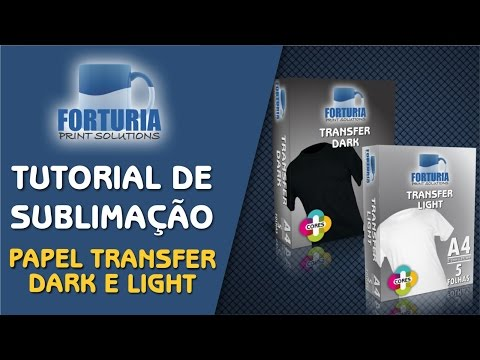 TUTORIAL APLICAÇÃO DE PAPEL TRANSFER - CAMISA DE ALGODÃO