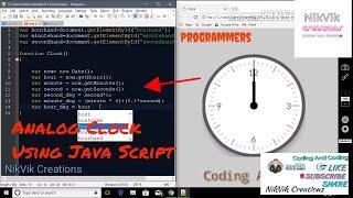 How to make analog clock using javascript nikvik creations