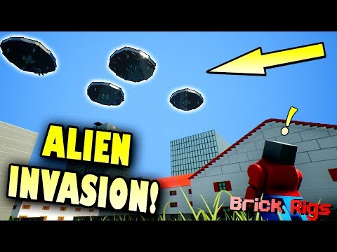 ALIENS INVADE THE CITY with BOB and BOB! - Brick Rigs Multiplayer Gameplay Ep31