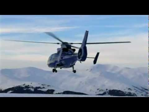 Helicopter transfer (charter) services in Courchevel FRANCE