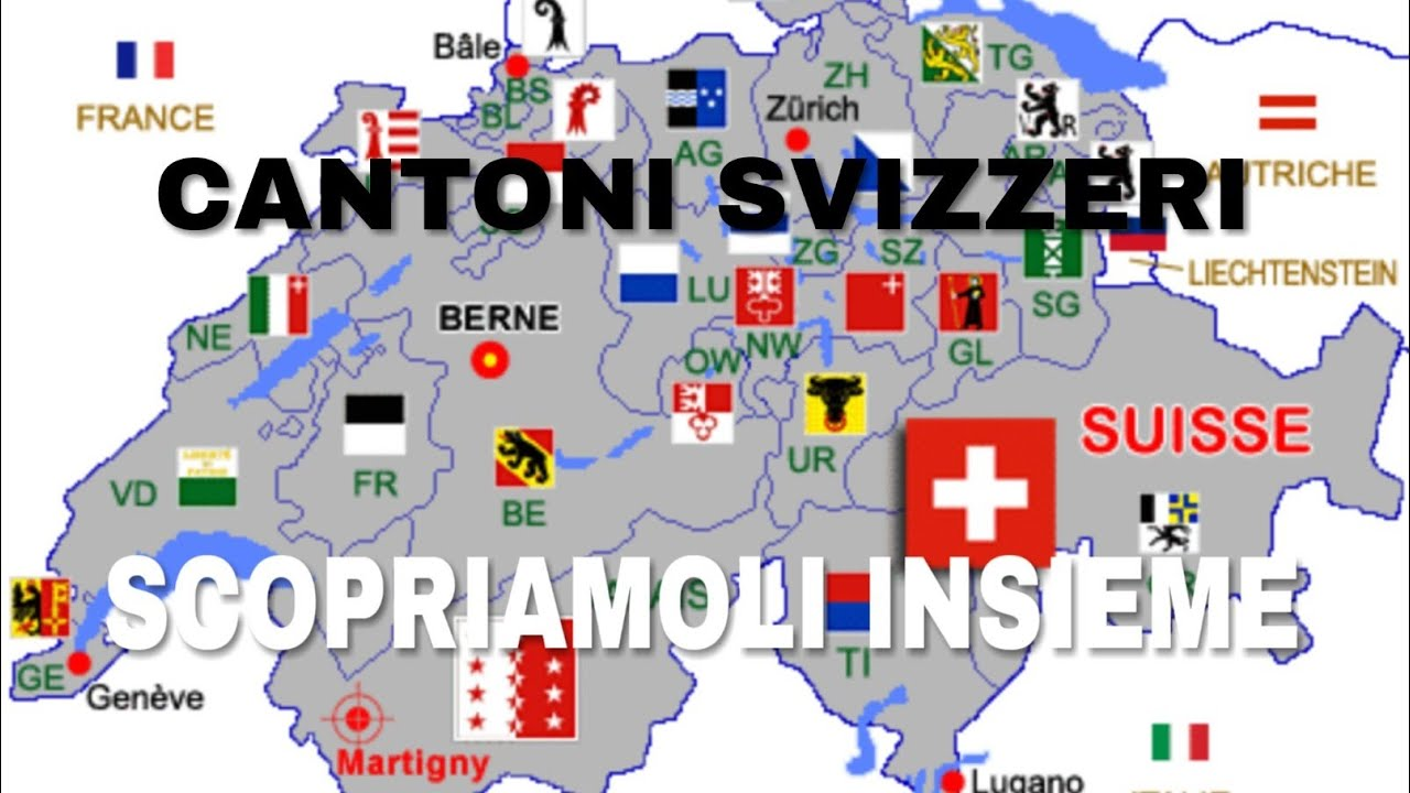 Cantoni Cartina Della Svizzera.La Svizzera Dei Cantoni Confrontiamo Alcuni Cantoni Youtube