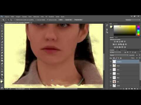 Pintura digital sobre foto