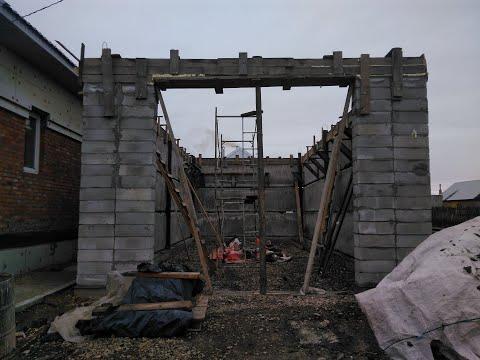гараж 12х6 из газобетонных стеновых панелей