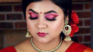 বাংলায় পহেলা বৈশাখের সাজ | Pohela Boishakh Makeup Tutorial With English Subtitles