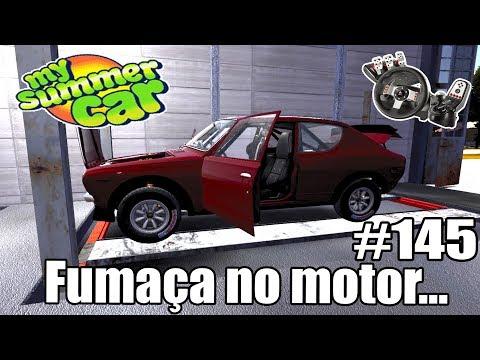 My Summer Car - RESOLVENDO A FUMAÇA DO MOTOR #145 (G27 mod)