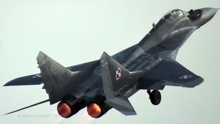 POLISH MIG-29 PILOT IS FLYING THE FULCRUM TO THE LIMIT!