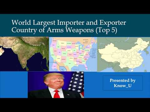 World Largest Arms Importer and Exporter Country...where is India?