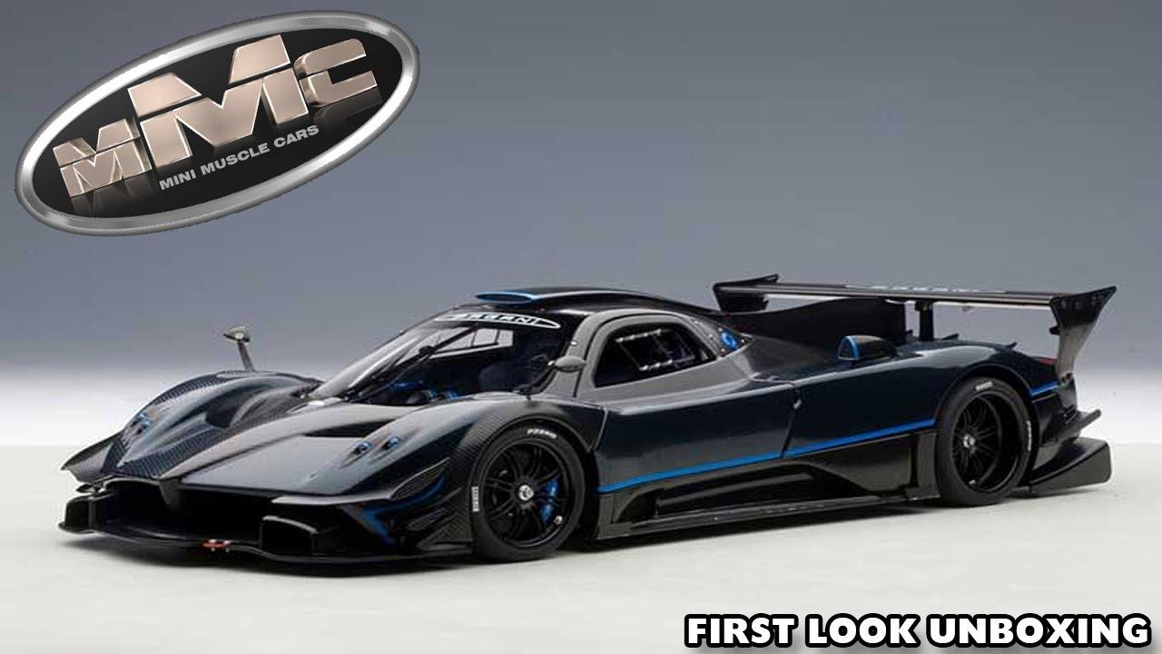 Autoart 78273 1 18 Pagani Zonda Revolucion Blue Black Carbon Fiber
