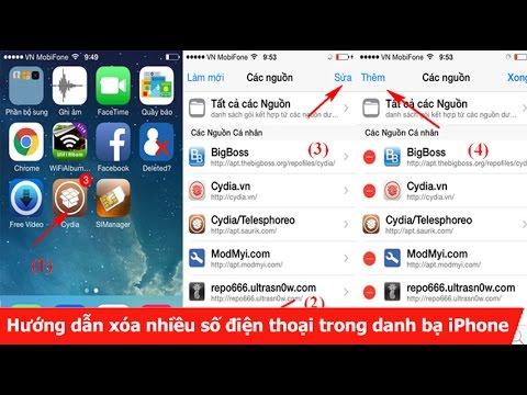Hướng dẫn xóa nhiều số điện thoại trong danh bạ iPhone