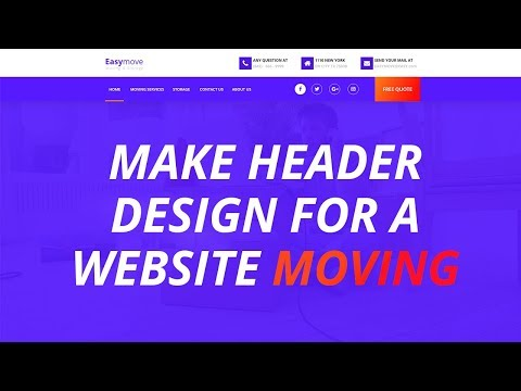 DESIGN HEADER FOR A WEBSITE MOVING COMPANY