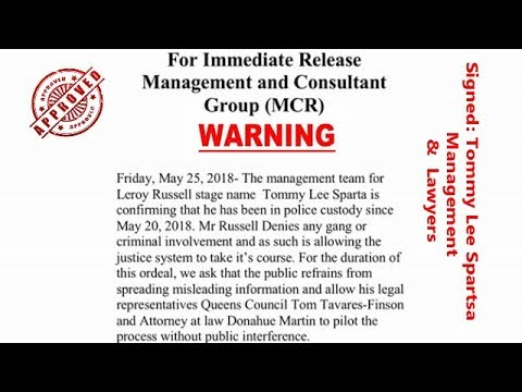 Tommy Lee Sparta Lawyer & Manager Issues WARNING!!!