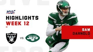 Sam Darnold Crushes Raiders w/ 315 Yds & 2 TDs | NFL 2019 Highlights