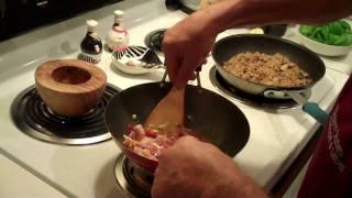 Thai Basil Pork With Pork Fried Rice
