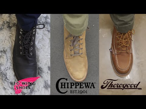 THOROGOOD VS RED WING VS CHIPPEWA: Battle of the Workboots!