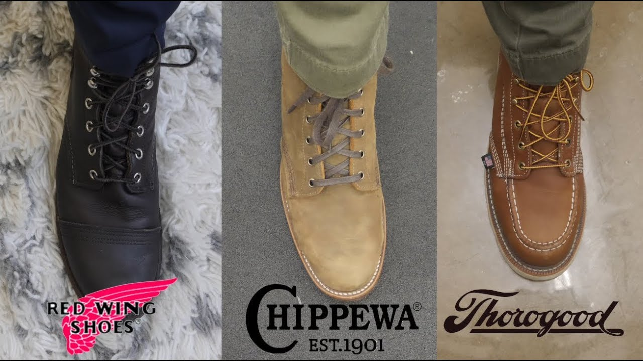 7713355aa93 THOROGOOD VS RED WING VS CHIPPEWA: Battle of the Workboots!