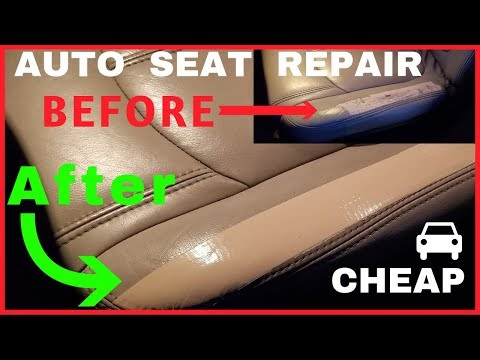 How-To Repair Patch Leather Vehicle Seats Cheap! (GMC Acadia)