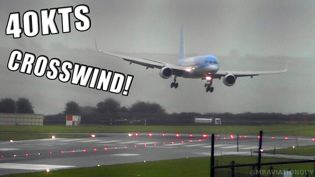 Tui Boeing 757 Comes Into Land Sideways In 40 Knot Crosswind At