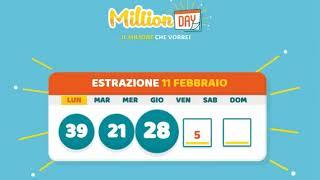 Estrazione MillionDAY 11 Febbraio 2019
