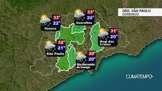 Previsão Grande São Paulo - Calor e temporais