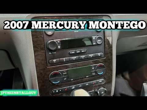 2007 mercury montego radio removal/ replacement