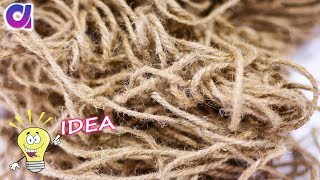 New diy | best out of waste craft ideas of jute and old bangles  | Artkala 355
