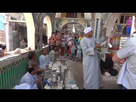 Egipt - Luksor - Fabryka alabastru - Alabaster Factory