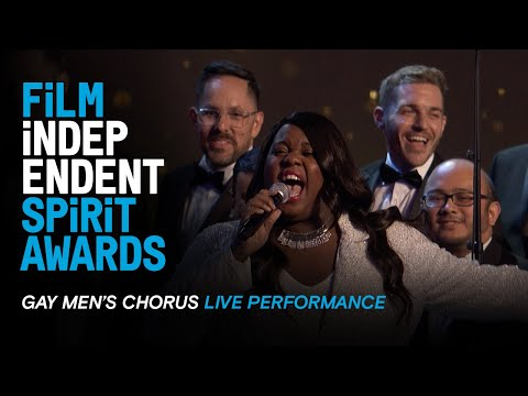 The Gay Men's Choir Performs At The 35th Film Independent Spirit Awards