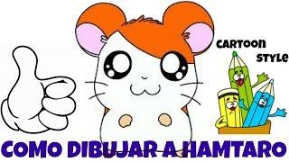 Como Dibujar a Hamtaro - How to Draw Hamtaro - Cartoon Style