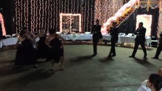 Surprise Wedding Bridal Party Flash Mob Dance Off for Josh and Sarah Encore